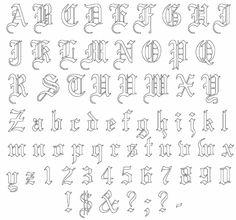 33 Best Tattoo Letter Stencils Images On Pinterest