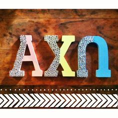 These Alpha chi omega letters will look fabulous on your wall. Make this as a fun #diy activity. #axo