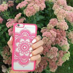 Pink mandala print flower phone case. Favorite shade of pink!