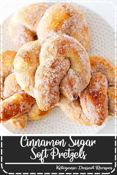 These cinnamon sugar soft pretzels are so delicious and they're so quick and simple to make! They make a perfect game day snack, an easy dessert recipe, or a fun sweet treat! Such a delicious snack idea! Yummy Snacks, Yummy Food, Cookie Recipes, Dessert Recipes, Oreo Dessert, Snack Recipes, Soft Pretzels, Cinnamon Pretzels, Recipes
