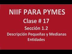633. Sección 1_2 Descripción Pequeñas y Medianas Entidades _ Clase #17 NIIF PYMES  https://www.youtube.com/watch?v=pnx209zziy4