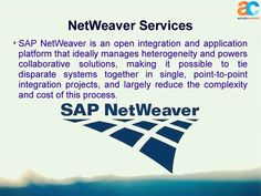 Best #SAP Application Services Offered By #Accely #Netweaver