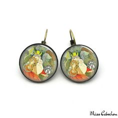 1920s style earrings - The jewelry of the day by Miss Cabochon (available at http://misscabochon.com)