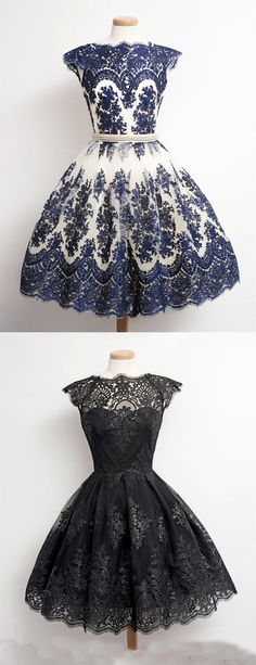 vintage style homecoming dress, knee-length homecoming dress, short bridesmaid…