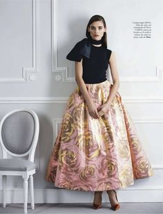 i think you could do a full skirt like this (even a print if you wanted) & then a simple basic top