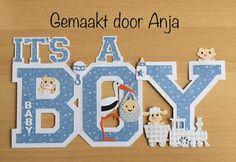 Anja Pauw Creaties: It's a boy is het lettertype Collegiate Heavy en h...
