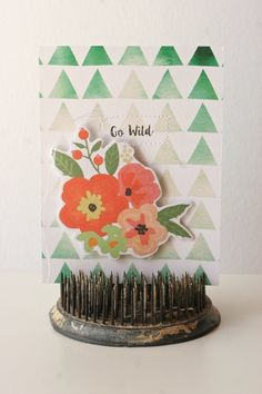 Go Wild, by Suz Mannecke using the Lunch Break collection from www.cocoadaisy.com #cocoadaisy #scrapbooking #kitclub #cards #stitching #stamping #DITL #diecuts #ombre