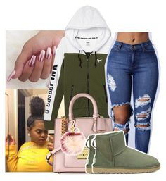 """Untitled #763"" by sipping-gold ❤ liked on Polyvore featuring Victoria's Secret, Michael Kors, UGG Australia and MICHAEL Michael Kors"