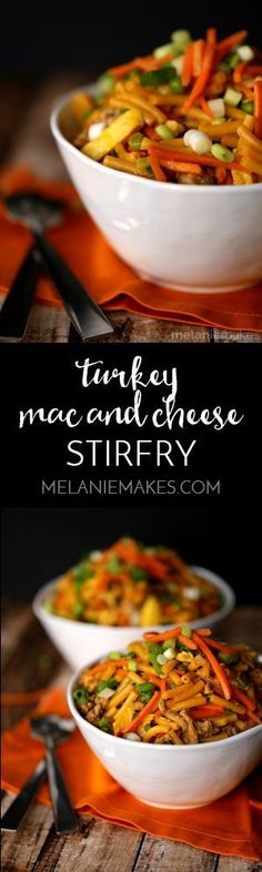 See ya, rice! You've been replaced by mac and cheese! Full of veggies and two sources of protein, this Turkey Mac and Cheese Stir Fry is a kid friendlier version of Turkey Fried Rice and sure to please anyone sitting around your dinner table.