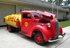 1937 Diamond T marked up as a Shell tanker truck