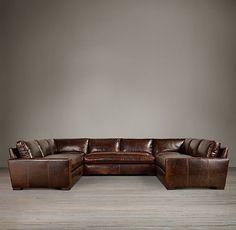 Maxwell Leather U-Sofa Sectional