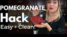 How to Get the Seeds out of a Pomegranate the Easy/Clean Way Pomegranates are delicious but devilish fruits because they are so hard to get into without staining everything you own, including your hands, bright red. Not anymore!