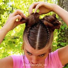 Wedding Bun Hairstyles, Work Hairstyles, Little Girl Hairstyles, Braided Hairstyles, Female Hairstyles, Easy Hairstyle, Style Hairstyle, School Hairstyles, Hairstyles 2018