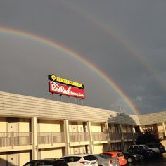 Double Rainbow Seen From Red Roof Inn U0026 Suites Herkimer, New York!