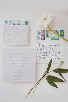 #paper-goods, #calligraphy, #stationery  Photography: Christina Szczupak - christinaszczupak.com  Read More: http://www.stylemepretty.com/2013/09/05/long-island-city-wedding-from-christina-szczupak/
