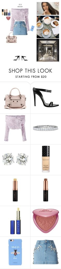 """Shopping ❤️"" by teenydreamy ❤ liked on Polyvore featuring Balenciaga, Daizy Shely, Gucci, Vapour, Sephora Collection, Prada and Emanuel Ungaro"
