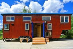 The last metal-sided Rocky Mountain Tiny Houses build we profiled, the Bayfield, was still an unremarkable steel-grey when we saw it, just beginning its natural progression to rusty perfection. Greg Parham's latest, the Rusted Mountain Roost, comes pre-rusted with hydrogen peroxide, and it must be giving the Bayfield owner something to look forward to. It's …