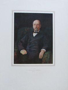 N. A. NEKRASSOW Porträt Reproduktion Kunstdruck Staatliche Russische Museum 1952