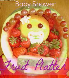 Baby Carriage Fruit Platter Tutorial