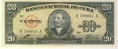 Cuba 1960 AU+ 20 Pesos
