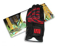 Mens Golfing Gloves by Loudmouth Golf - Cherry Bomb/Black.  Buy it @ ReadyGolf.com