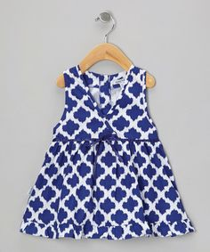 Take a look at this Navy Ikat Kumi Dress - Infant, Toddler & Girls on zulily today!