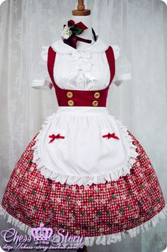 Chess Story Cherry & Berry Underbust JSK in Red