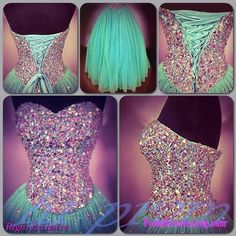 Ball Gown Prom Dresses, Mint Prom Gowns,Sparkly Prom Dresses,Sexy Party Dresses,Long Prom Gown,Tulle Prom Dress,Corset Prom Gown MT20184559