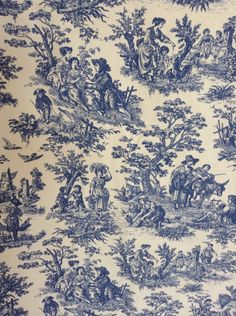 A personal favorite from my Etsy shop https://www.etsy.com/listing/481491049/vintage-waverly-toile-valance-pair