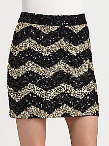 Alice + Olivia - Leigh Sequined Skirt