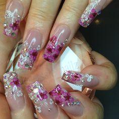 #notpolish #encapsulatedart #bling #swarovski #3dnailart #longnailsdontcare #pinknails #madre #bayareabeauty #calilivin