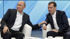 He's always touching his handsome Prime Minister, Dmitry Medvedev. | The 16 Most Homoerotic Photos Of Vladimir Putin