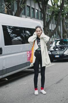 Milan Fashion Week 2015 S/S Street Style :Day 4 #model #offduty #monamatsuoka