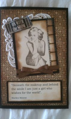 Marilyn Monroe Card Swap, film strip, lace, actor quotes - Scrapbook.com