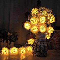 Battery Powered Fairy Lights LED String - Roses 16ft 50pcs