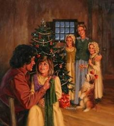 Oh how I love The Little House on the Prairie and their simple Christmas celebration!!!