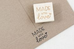 Made with Love Stamp, Stamp for Tags, Love Stamp, handmade stamp