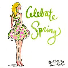 celebrate spring illustration by lilly pulitzer Twirling Clare: Easter Weekend First Day Of Spring, Happy Spring, Spring Time, Lilly Pulitzer Prints, Lily Pulitzer, Estilo Preppy, Spring Aesthetic, Easter Weekend, Easter Brunch
