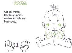 BAIN French Signs, Baby Sign Language, Education, Learning, Index, Camille, Recherche Google, Learn Sign Language, Baby Language