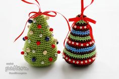 New Crochet Pattern – Little Colorful Christmas Trees « Crochet « Zoom Yummy – Crochet, Food, Photography
