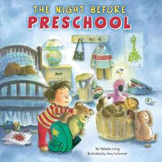 Read The Night Before Preschool children book by Natasha Wing . It's the night before preschool, and a little boy named Billy is so nervous he can't fall asleep. The friends he makes Preschool First Day, Preschool Literacy, Preschool Books, Preschool Ideas, Teaching Ideas, September Preschool, Fall Preschool, Preschool Education, Preschool Printables