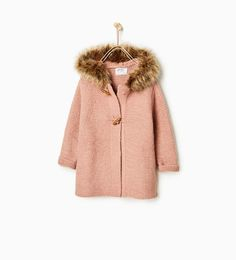 Cardigan with faux fur hood-View all-OUTERWEAR-Girl-Kids | 4-14 years-KIDS | ZARA United States