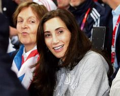 August 3, 2012 - Nancy and Sir Paul attend the Olympic track and field events
