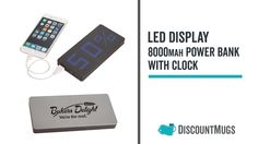 Personalized LED Display Powerbank With Clock Clock, Display, Led, Products, Watch, Floor Space, Billboard, Clocks