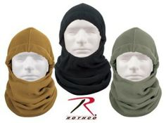 Coyote Brown Polar Fleece Adjustable Winter Balaclava Mask. A great way to stay warm in this really cold weather.