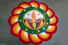 Simple Diwali Rangoli Designs