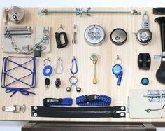 Busy board| Sensory Board| Fidget blanket alternative| Elderly sensory| Montessori toy| Wooden toys|Toddler present|Baby gift Activity board