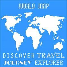 Stencil Mapa Mundi 305 x 305 - OPA