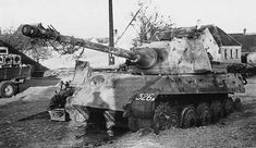 Tiger Ausf B abandoned at Balaton. | Panzertruppen | Flickr