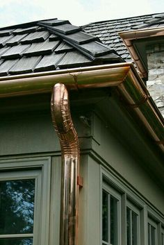 Gutter and spouts.